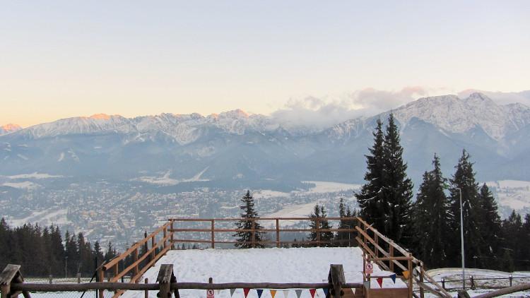 panorama z Gubałówki zimą