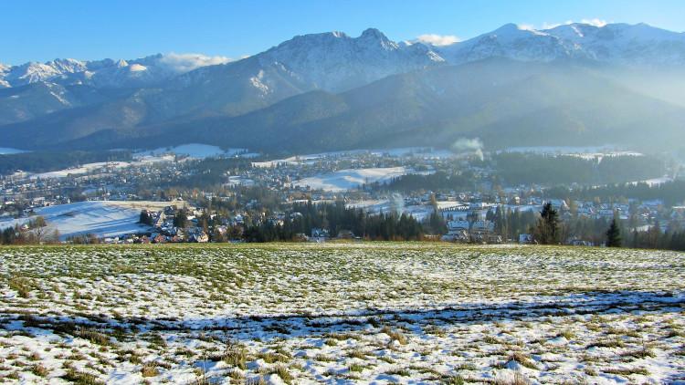 panorama Tatr zimą