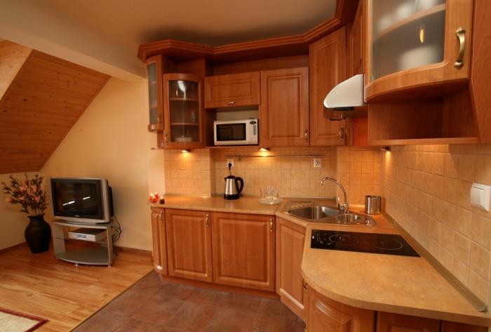 kuchnia w apartamencie Giewont