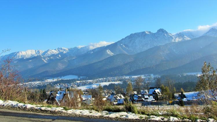 górska panorama zimą